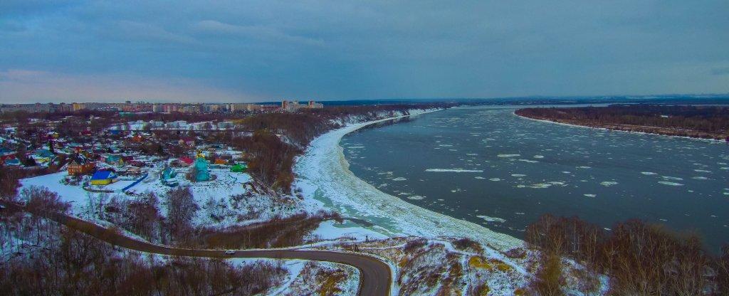 Река Волга, Кстово - Фото с квадрокоптера