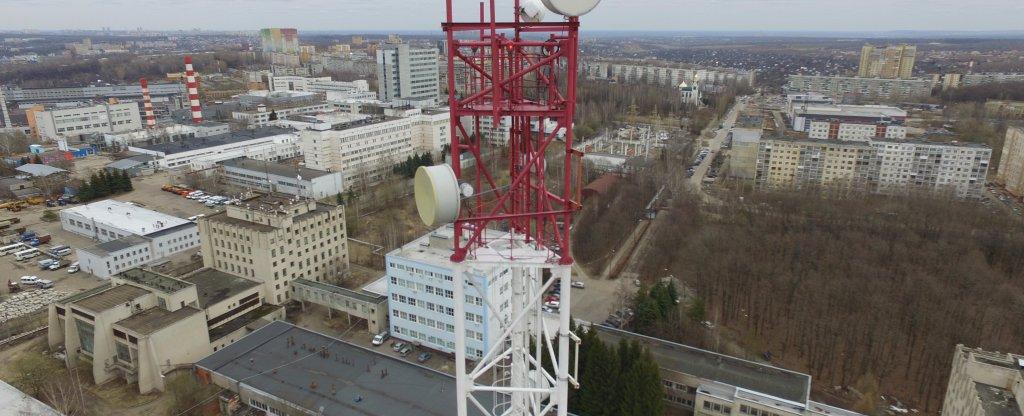 Обследование АМС 85м,  - Фото с квадрокоптера