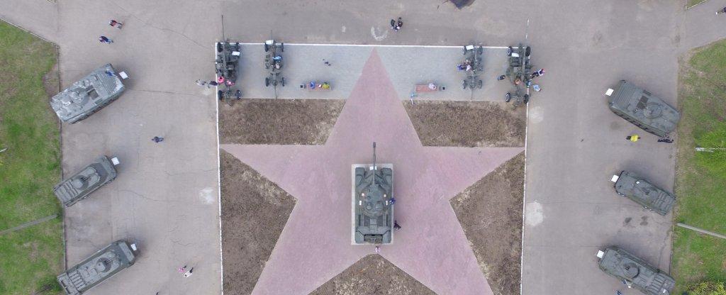 Танковая звезда,  - Фото с квадрокоптера