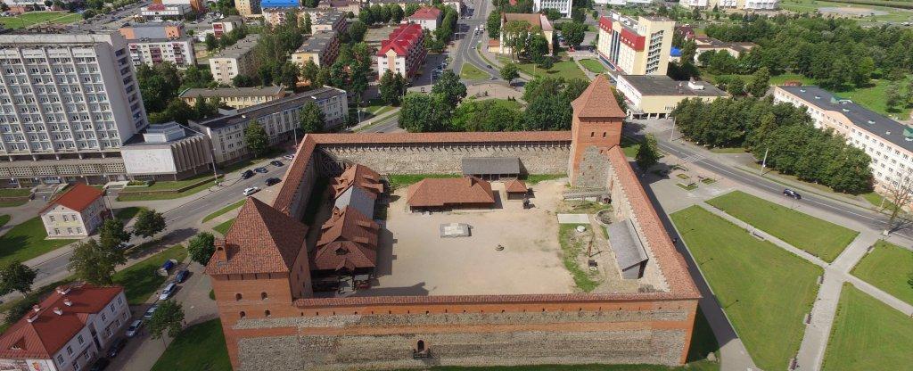 Замок в Лиде,  - Фото с квадрокоптера