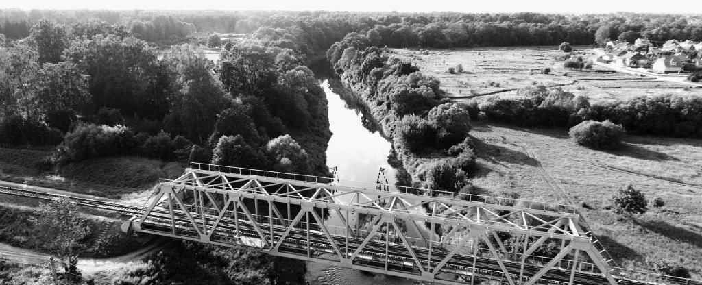 Военный мост,  - Фото с квадрокоптера