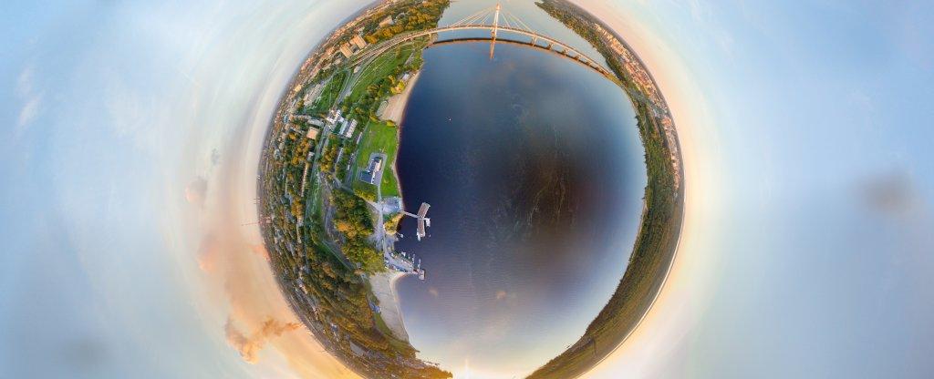 Планета Череповец с дымком,  - Фото с квадрокоптера
