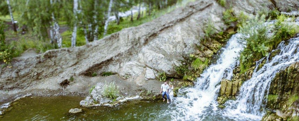 Беловский водопад., Искитим - Фото с квадрокоптера