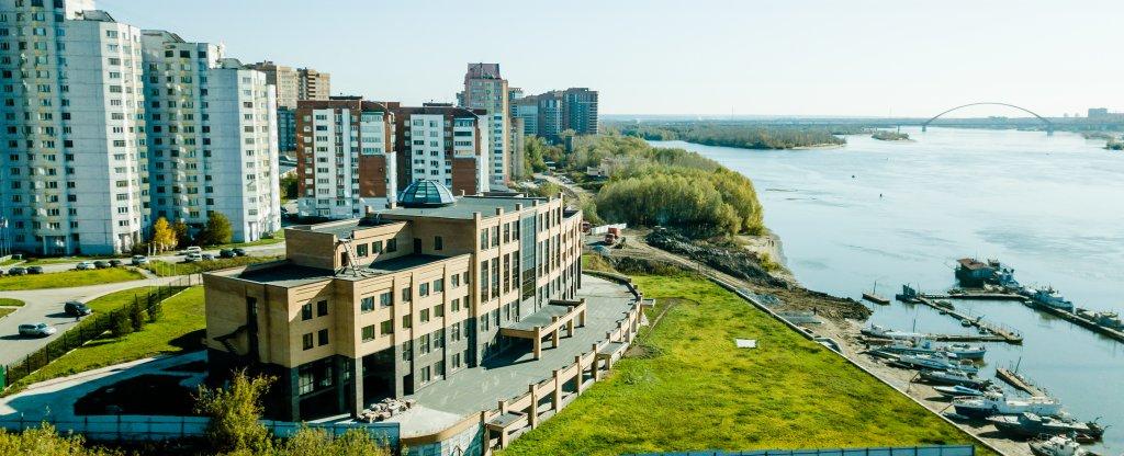 Объект на берегу р.Обь.,  - Фото с квадрокоптера