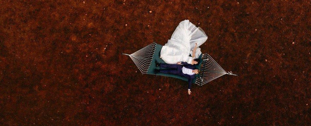 Свадебная прогулка в Белой усадьбе., Новосибирск - Фото с квадрокоптера