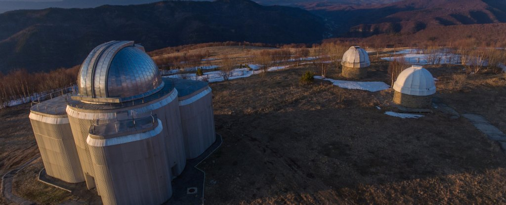 Телескоп Zeiss 1000 САО РАН,  - Фото с квадрокоптера