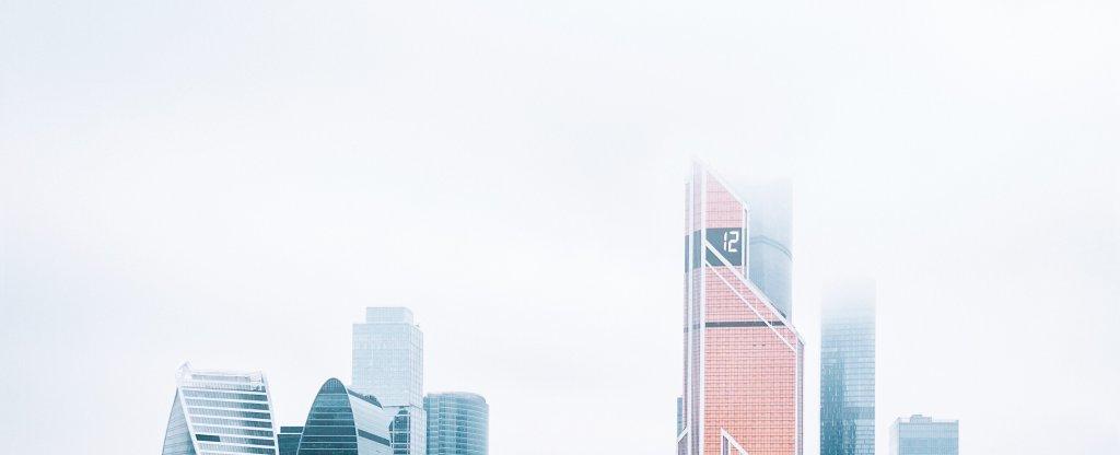 Туман над moscow city, Москва - Фото с квадрокоптера