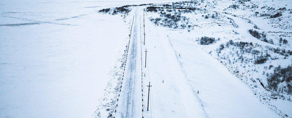 Дорога в териберку, Мурманск - Фото с квадрокоптера