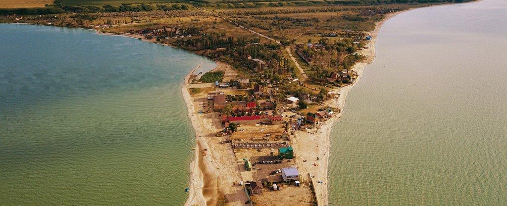 Коса (Таганрогский залив), Азов - Фото с квадрокоптера