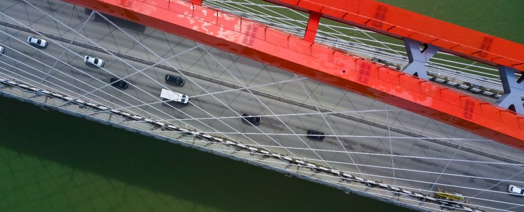 Бугринский мост, Новосибирск - Фото с квадрокоптера