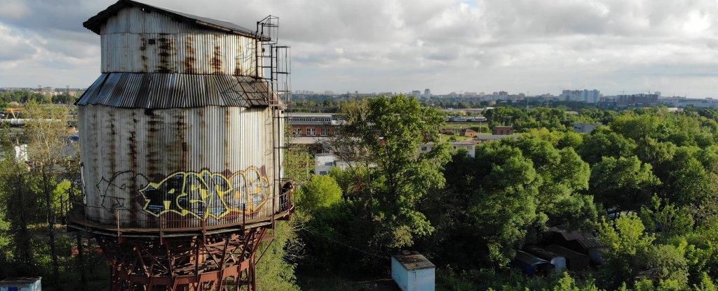 Заброшенная водонапорная башня, Иваново - Фото с квадрокоптера