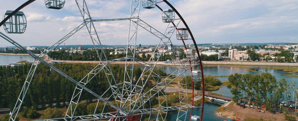 Колесо обозрения, Иркутск - Фото с квадрокоптера