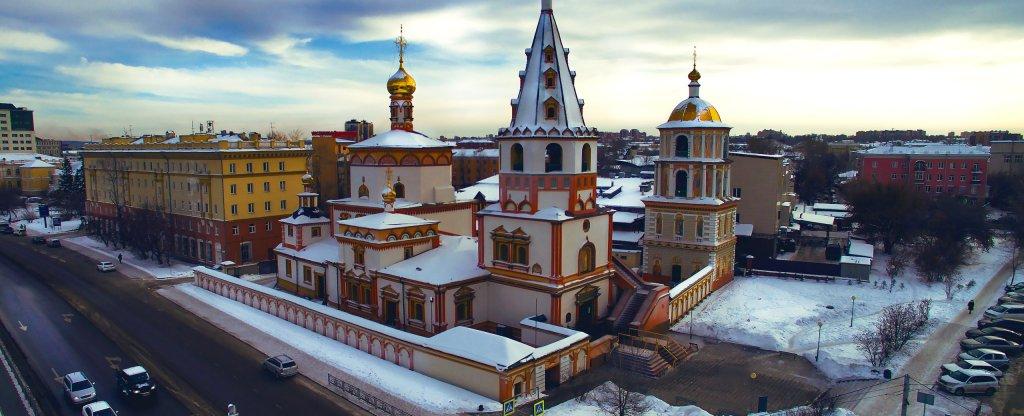 Церковь, Иркутск - Фото с квадрокоптера