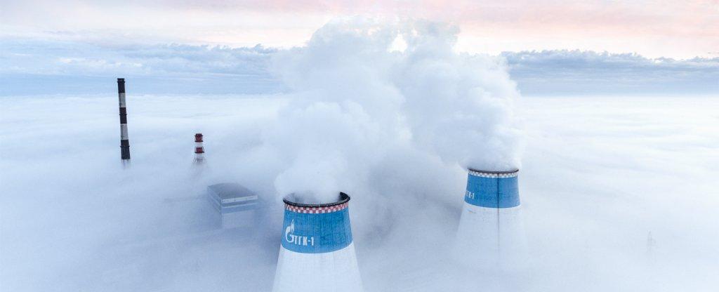 Туманное утро,  - Фото с квадрокоптера