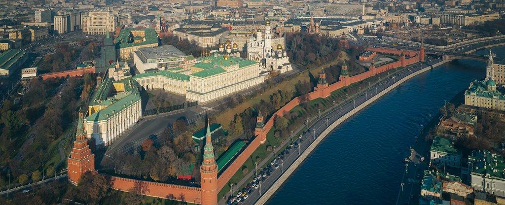 Фото Московского Кремля с воздуха,  - Фото с квадрокоптера