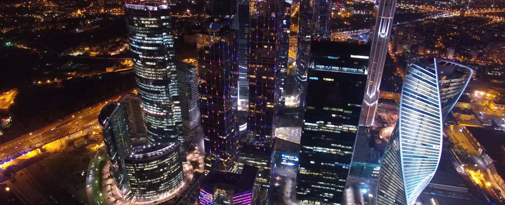 Москва-сити, Москва - Фото с квадрокоптера