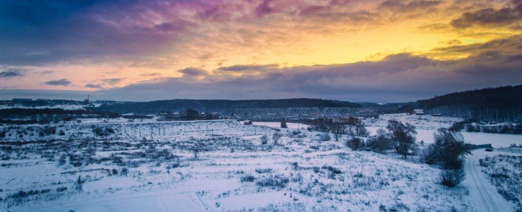 восход над окой, Алексин - Фото с квадрокоптера
