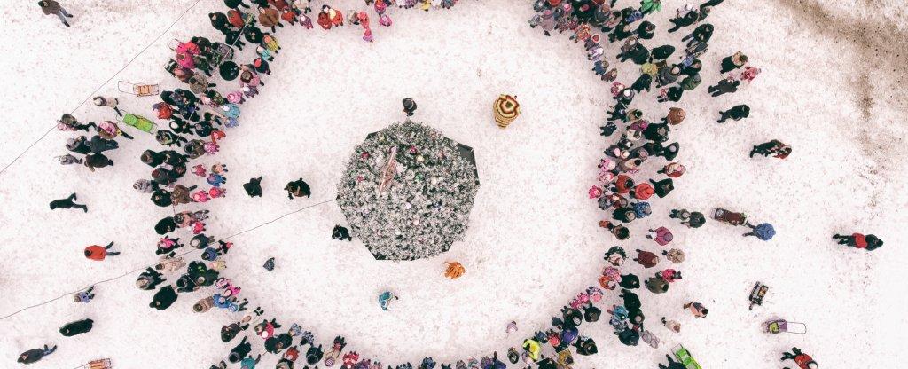 Открытие новогодней елки, Алексин - Фото с квадрокоптера