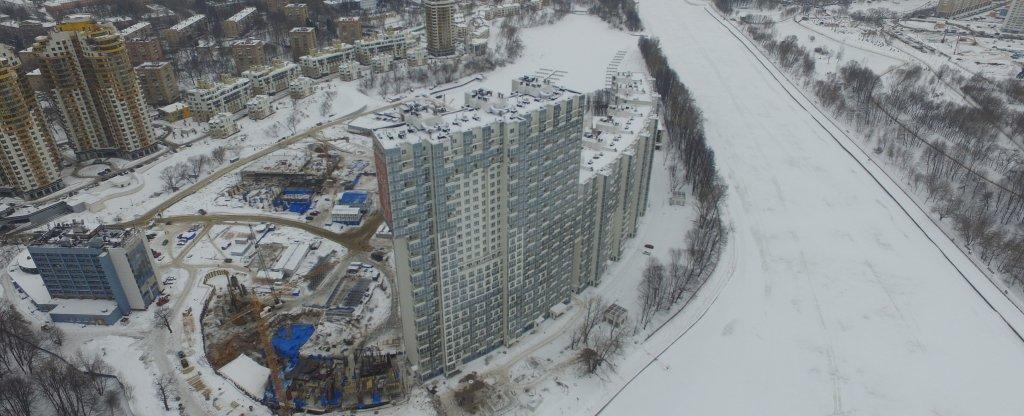 Часть съёмки жк, Москва - Фото с квадрокоптера