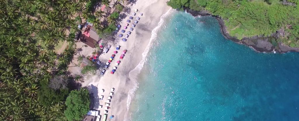 Индонезия. Бали. Пляж Virgin, Санкт-Петербург - Фото с квадрокоптера