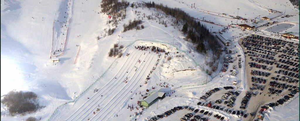 Аэросъемка обзорного ролика горнолыжного курорта Туутари парк, Санкт-Петербург - Фото с квадрокоптера
