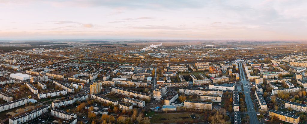 Панорама осеннего города, Екатеринбург - Фото с квадрокоптера