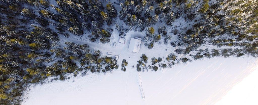 Коттедж в Финляндии, Санкт-Петербург - Фото с квадрокоптера