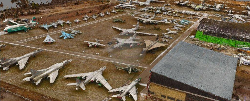 Построение 3-Д модели для Музея Авиации в Монино,  - Фото с квадрокоптера