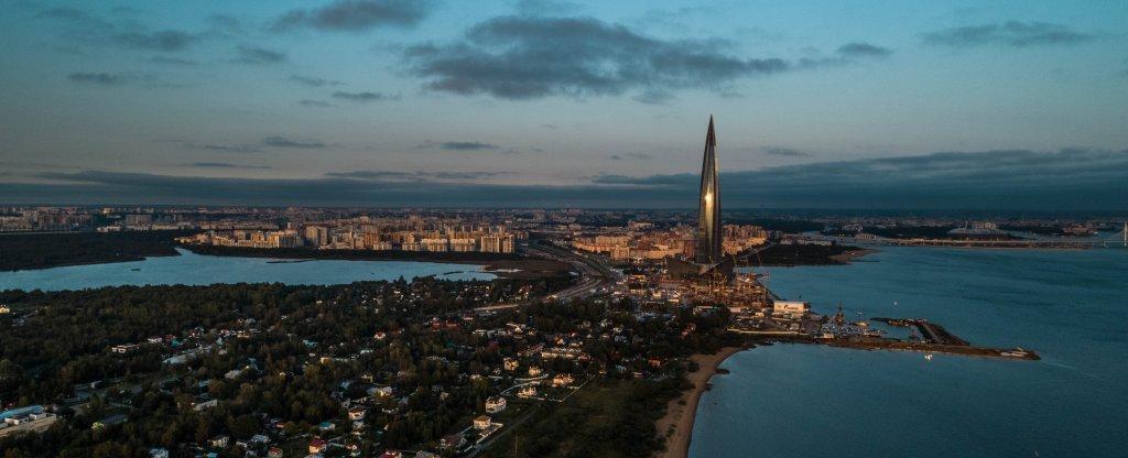 Ольгино, Приморский район, Санкт-Петербург - Фото с квадрокоптера