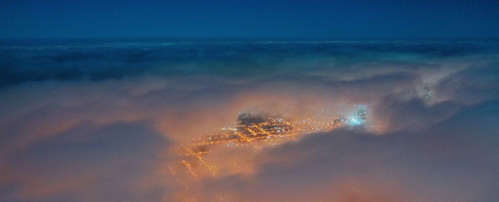 Город в облаках., Ставрополь - Фото с квадрокоптера
