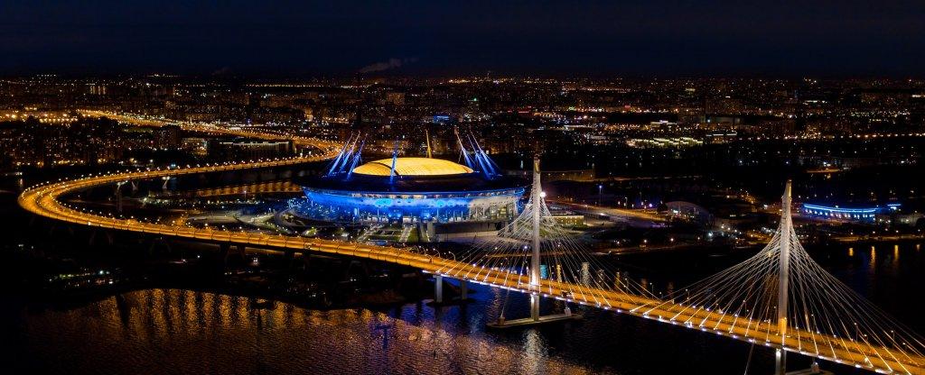Газпром Арена,  - Фото с квадрокоптера