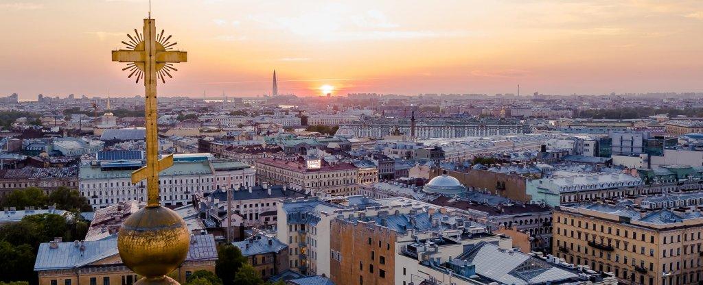 Крест Казанского собора,  - Фото с квадрокоптера