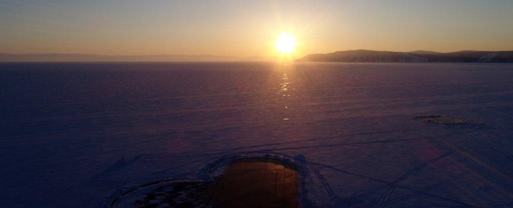Сердце на Байкале,  - Фото с квадрокоптера