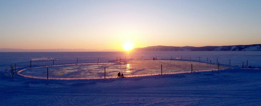 Сердце на Байкале, Иркутск - Фото с квадрокоптера