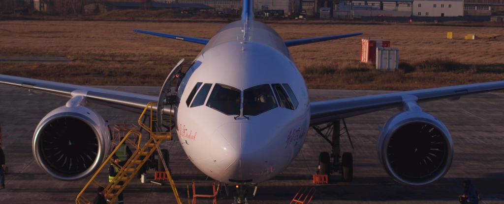 Самолет МС-21, Иркутск - Фото с квадрокоптера