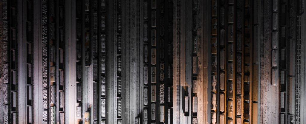 ЖД депо,  - Фото с квадрокоптера