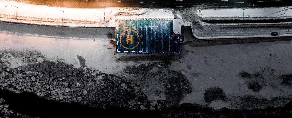 Вертолетная площадка,  - Фото с квадрокоптера