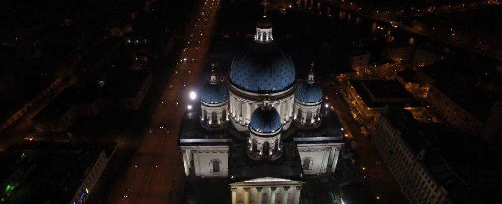 Ночной Санкт-Петербург, Санкт-Петербург - Фото с квадрокоптера