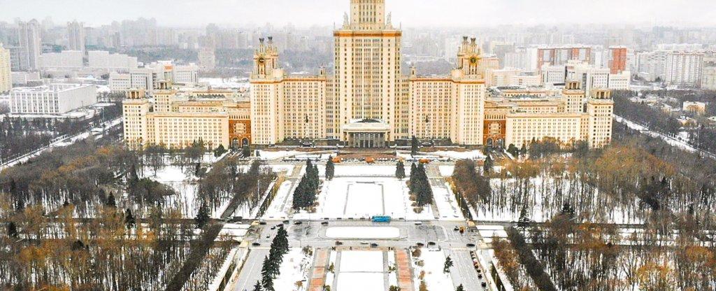 Центральное здание МГУ, Москва - Фото с квадрокоптера