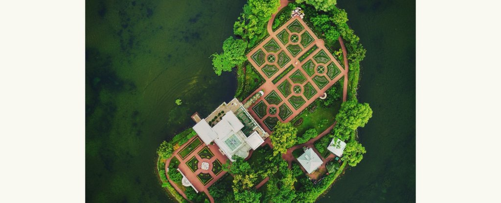 Царицын Павильон, Петергоф - Фото с квадрокоптера