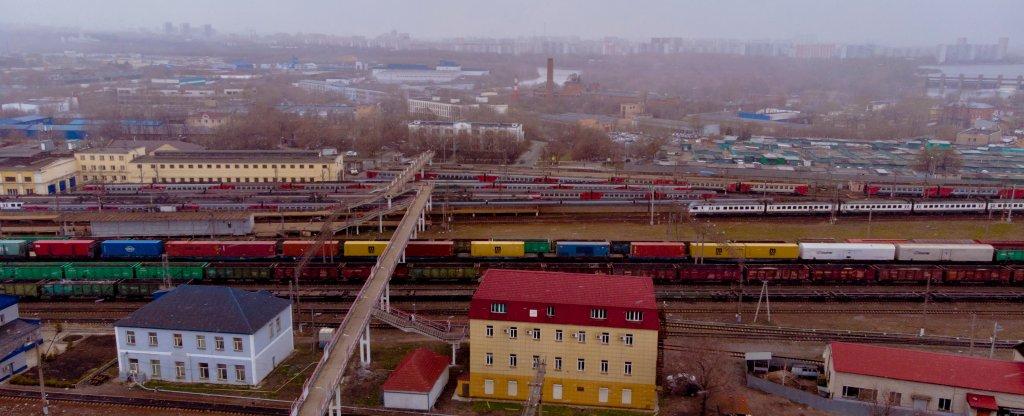 Москва платформа Перерва,  - Фото с квадрокоптера