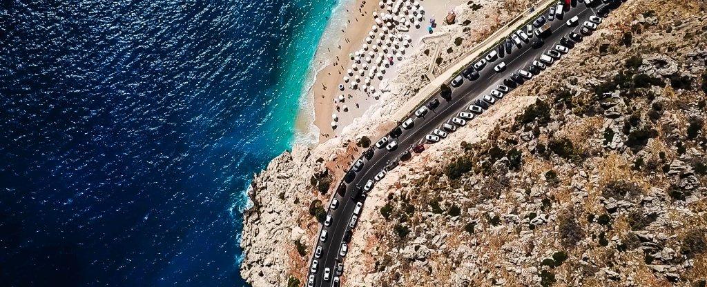 Пляж Капуташ, Турция,  - Фото с квадрокоптера