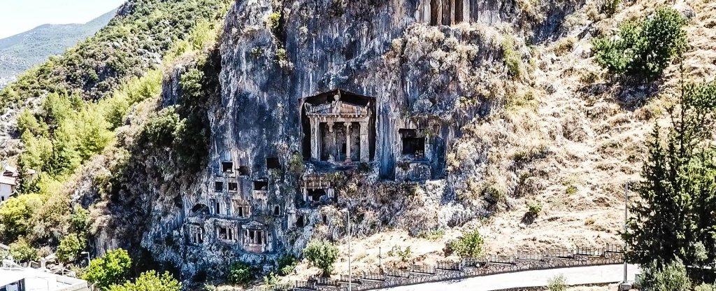 Ликийские гробницы, Фетхие,  - Фото с квадрокоптера