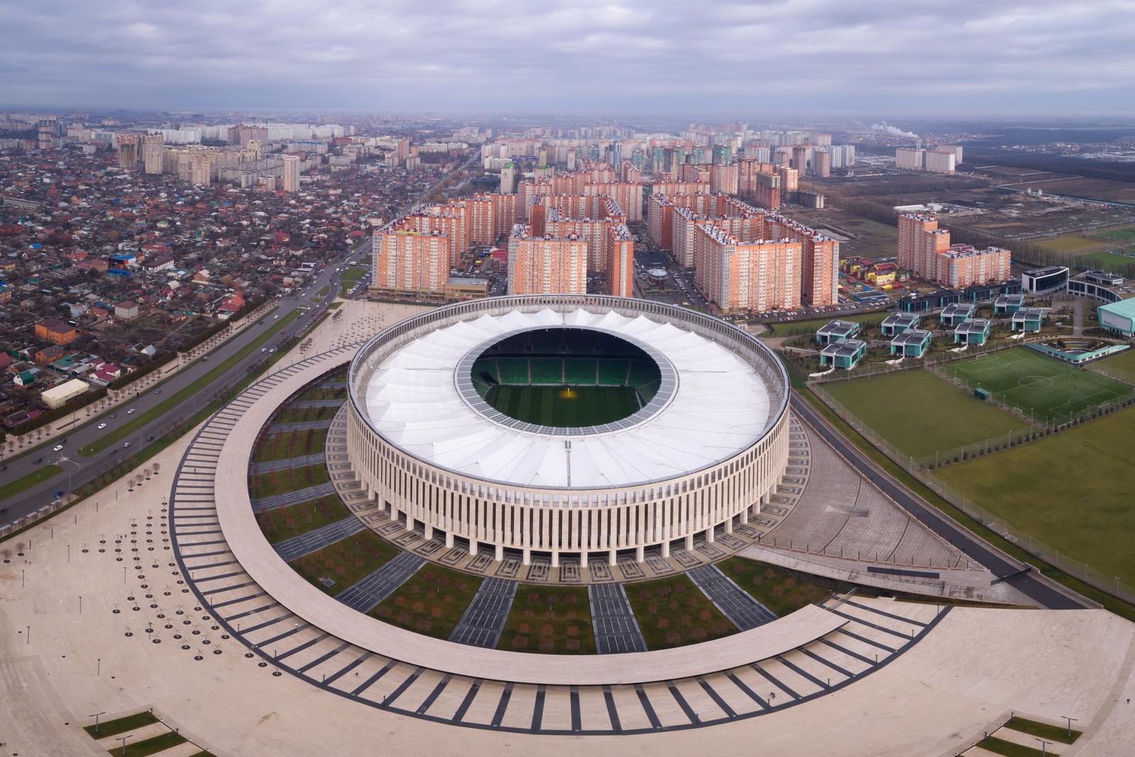 Фото стадиона краснодар сверху