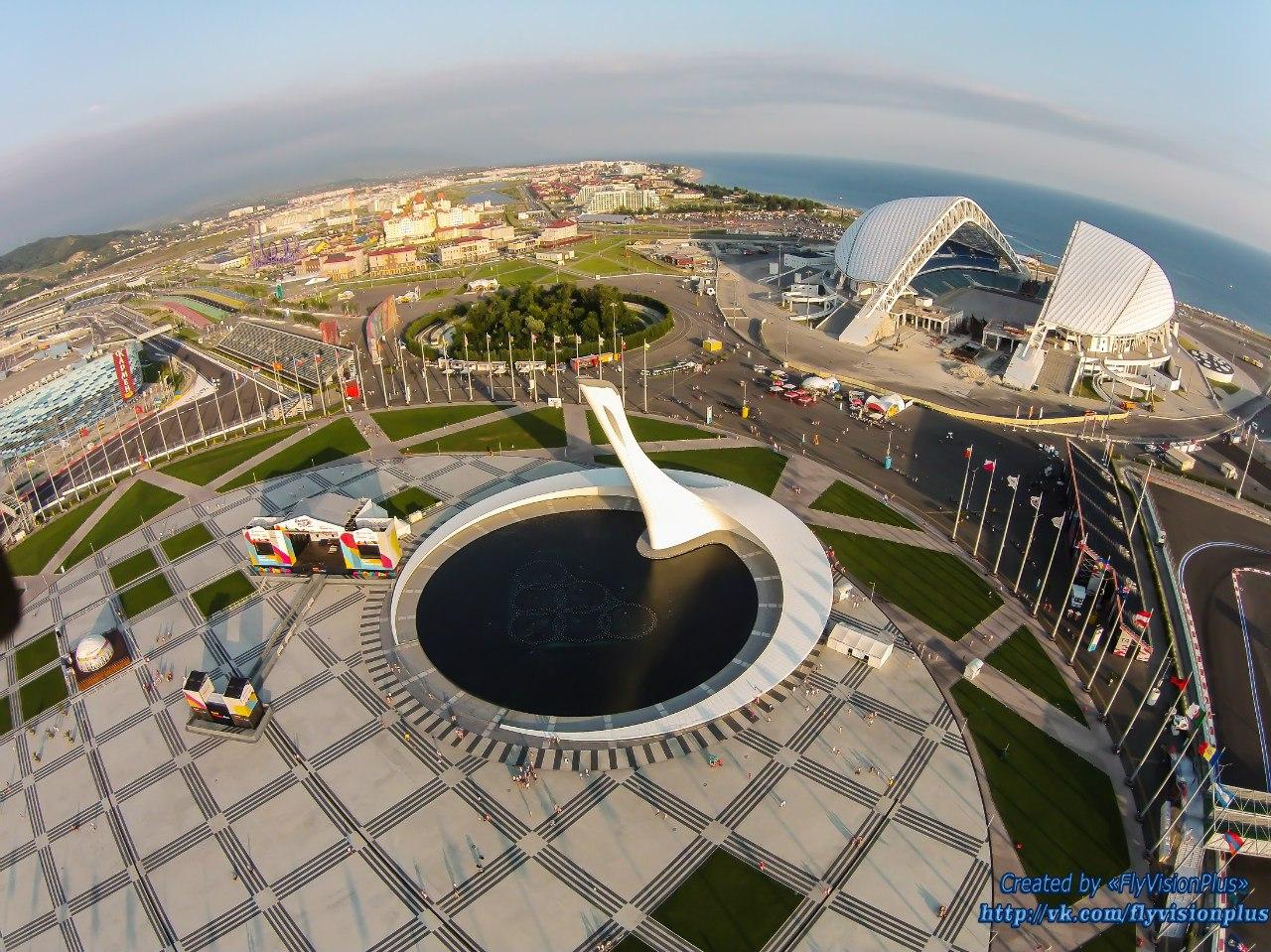фото олимпийский парк сочи вид сверху широте его