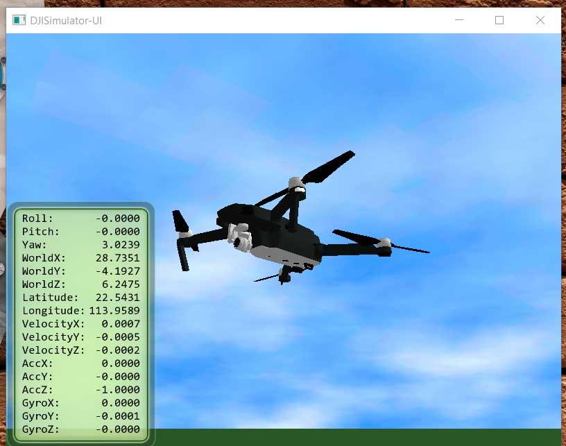 Симулятор полета на квадрокоптере DJI